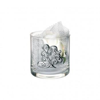 Bongelli Preziosi Vaso in vetro Cilinder piccolo 25° anniversario 10x10 fiori inclusi Albero della Vita Trasparente