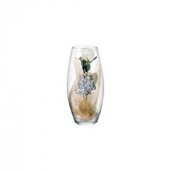 Bongelli Preziosi Vaso in vetro Amarilis piccolo 25° anniversario fiori inclusi  Trasparente