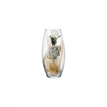Bongelli Preziosi Vaso Amarilis in vetro  piccolo 50° anniversario fiori inclusi  Trasparente