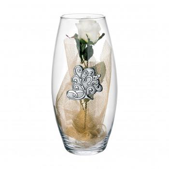 Bongelli Preziosi Vaso in vetro Amarilis grande 25° anniversario fiori inclusi  Trasparente