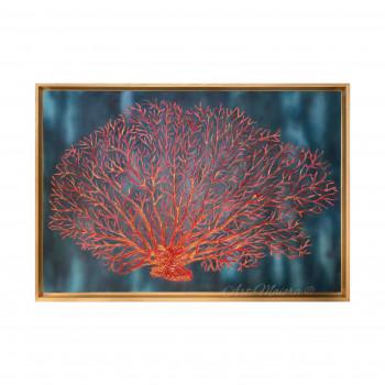 """Art Maiora Quadro moderno dipinto a mano su tela """"Corallo"""" 120x80      CRLLO"""