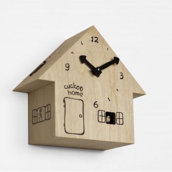 Progetti Orologio da parete a cucù in legno CucùHome  Marrone Chiaro