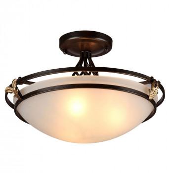 Maytoni Lampada da Soffitto in stile classico in metallo e paralume in vetro Combinare