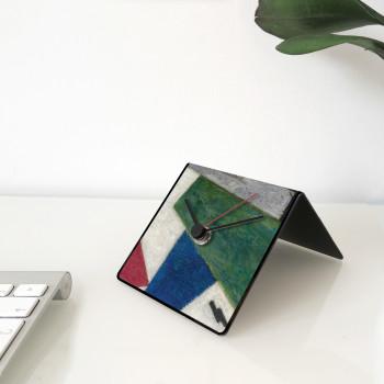 """Design Object Orologio da tavolo o scrivania calendario e magneti sul retro """"MALEVICH"""""""