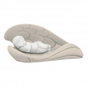 Bongelli Preziosi Bomboniera Battesimo - Scultura con bambino che dorme tra le ali colorate      ME1256/