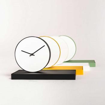 """Formae Orologio da tavolo moderno in acciaio con specchio girevole """"Gira Tempo""""      GIRAUU"""