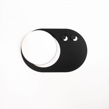 """Formae Specchio con 2 appendini orizzontali in acciaio verniciato """"Eclip""""      ECLIMH"""