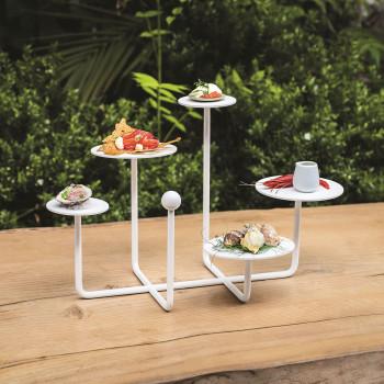 """Formae Alzatina per dolci in acciaio verniciato in stile moderno """"Coral""""      CORAUU"""