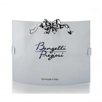 Bongelli Preziosi Portafoto da tavolo di design moderno con fiocco in argento      ME817