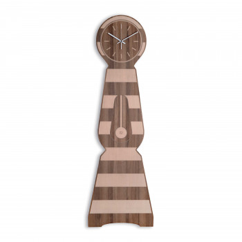 """Ves Design Orologio da parete in legno di grandi dimensioni da salotto """"Moraklocka Tabaco"""" Istanti     L05R36"""
