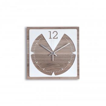 Ves Design Orologio da parete quadrato in legno di designo moderno per cucina o salotto KLIN     K05R40