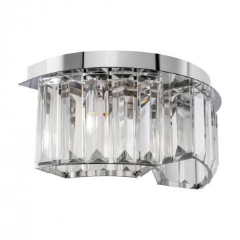 Maytoni Applique da parete moderna in metallo con diffusore in vetro Colline Cromato    MOD083WL-02CH