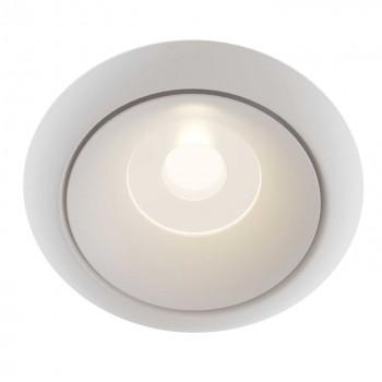 Maytoni Faretto da incasso in stile minimalista montatura in alluminio Yin Bianco