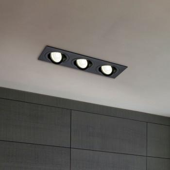 Maytoni Faretti da incasso con 3 lampade orientabili e struttura in metallo verniciato Atom     DL024-2-03