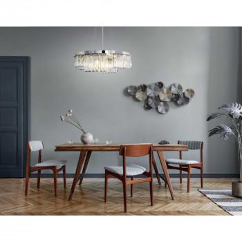 Maytoni Illuminazione a sospensione moderna grande in metallo con diffusori in vetro Colline Cromato    MOD083PL-09CH