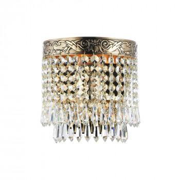 Maytoni Applique classica con dettagli in ottone e pendenti in cristallo Palace