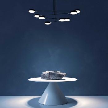 Maytoni Lampada a sospensione a LED grande in metallo e diffusori dal design moderno Fad Nero Lumen 2300 3000k Luce Calda  MOD070PL-L48B3K