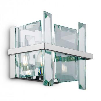 Maytoni Applique da parete piccola in metallo con diffusore in vetro dal design moderno Cerezo Cromato    MOD201WL-01N