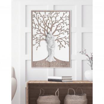 Bongelli Preziosi Quadro moderno in legno grande con albero della vita e la famiglia abbracciata      ME1947/2