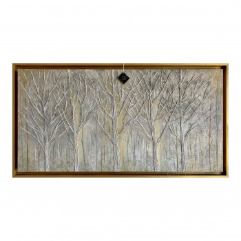 """Art Maiora Quadro dipinto a mano con paesaggio """"Foresta Intrecciata"""" 120x80      FRSIN"""