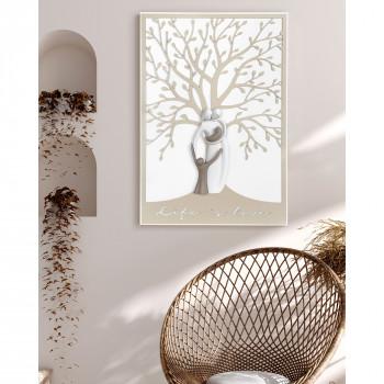 Bongelli Preziosi Quadro moderno piccolo in legno con albero della vita e la famiglia unita      ME1951/1