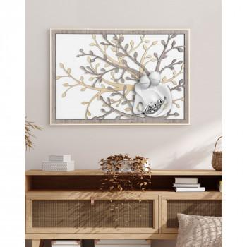 Bongelli Preziosi Quadro moderno piccolo in legno con albero della vita e la famiglia      ME1953/1