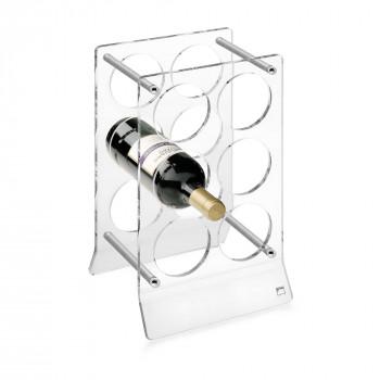 Giannini Cantinetta da tavolo per bottiglie in plexiglass  Trasparente    24702