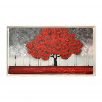 """Art Maiora Quadro per soggiorno con paesaggio moderno """"Incanto Rosso"""" 130x70      INCT2"""