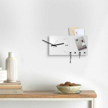 """Design Object Portachiavi con orologio e portalettere da parete in metallo """"CLOCK&MORE"""""""