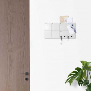 Design Object Appendichiavi da parete con planner settimanale lavagna magnetica e calendario      IT306