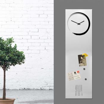 """Design Object Orologio da parete verticale con calendario e lavagna magnetica """"S-ENSO""""      IT624"""