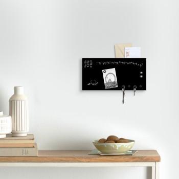 """Design Object Portachiavi da parete per ufficio con calendario e lavagna magnetica """"MINI KROK""""      IT862"""
