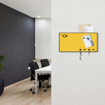 """Design Object Portachiavi da parete con accessori magnetici per foto e posta """"HORN""""      IT865"""
