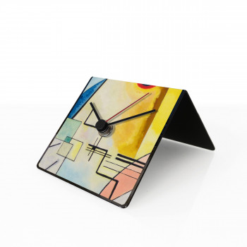 "Design Object Orologio da tavolo o scrivania in metallo con calendario e magneti ""KANDINSKY"" Art Collection"