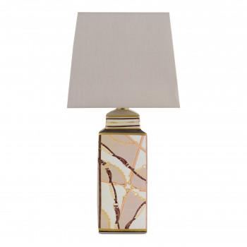 Baci Milano Lampada da tavolo in porcellana dallo stile moderno con paralume in tessuto Horses Marrone    LAM.HOR02