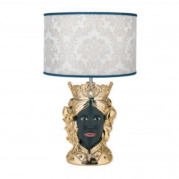 Bongelli Preziosi Lampada da tavolo in stile moderno con testa di moro maschile  Oro    ME1887