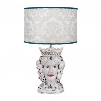 Bongelli Preziosi Lampada da tavolo in stile moderno con testa di moro maschile  Bianco    ME1889