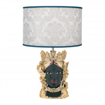 Bongelli Preziosi Lampada da tavolo in stile moderno con testa di moro femminile  Oro    ME1888