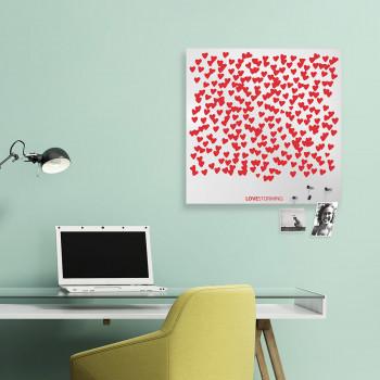 """Design Object Lavagna magnetica con accessori magnetici portafoto e appunti """"LOVESTORMING""""      IT611"""