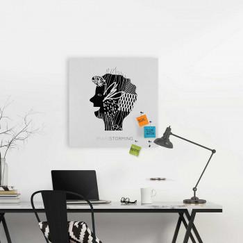 "Design Object Lavagna magnetica gigante accessori magnetici per appunti e foto ""BRAINSTORMING""      IT602BIG"