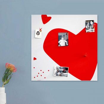 """Design Object Lavagna magnetica con freccette magnetiche per attaccare le foto """"HEART""""      IT601"""