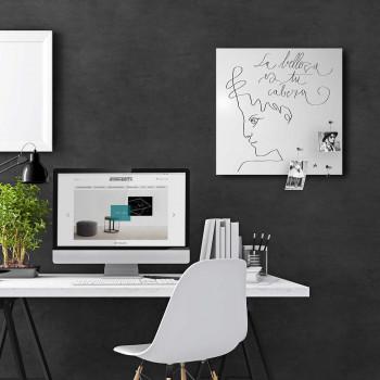 """Design Object Lavagna magnetica per ufficio con accessori magnetici per appunti """"LA BELLEZA""""  Bianco    IT710"""