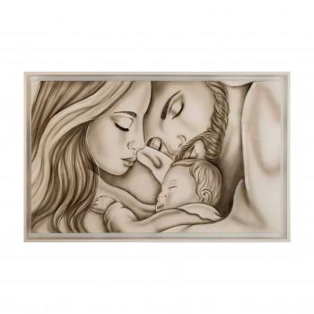 """Art Maiora Capezzale dipinto a mano su tela per camera da letto """"Legame di vita"""" 110x65      LGMDV"""