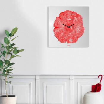 """Design Object Orologio da parete in metallo di design italiano per soggiorno """"LIFE""""      IT610"""