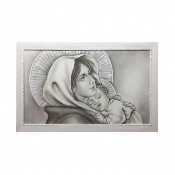 """Art Maiora Capezzale moderno dipinto a mano su tela """"Madonna del Ferruzzi"""" 110x65      MDNDF"""