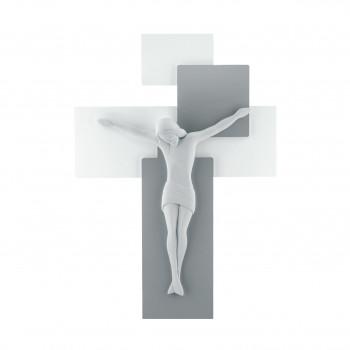 Bongelli Preziosi Crocifisso in stile moderno con pannello in legno 42x30      ME1210/3