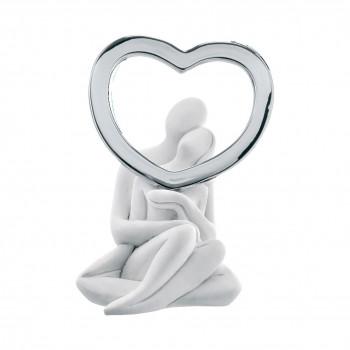 Bongelli Preziosi Statuina con innamorati e cuore Infinity