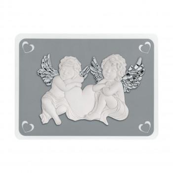 Bongelli Preziosi Capezzale quadro sacro moderno con angeli 50x37