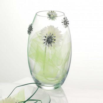 Bongelli Preziosi Vaso in vetro trasparente con girasoli in argento
