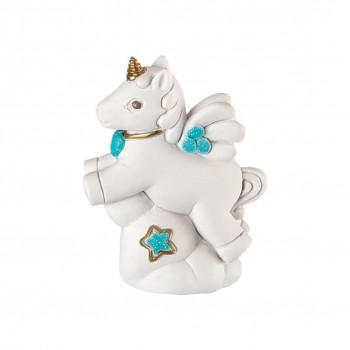 Bongelli Preziosi Bomboniera Battesimo - Scultura con Unicorno Celeste